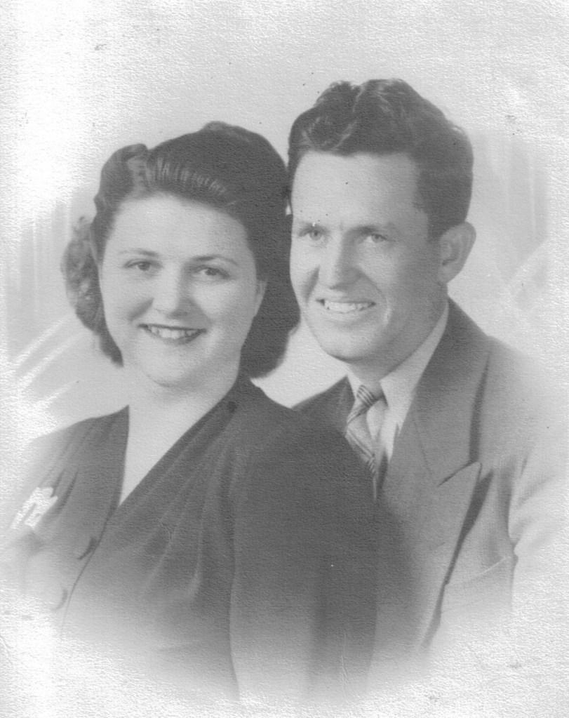 Crystal Barrow Waller and Billie Waller, 1942
