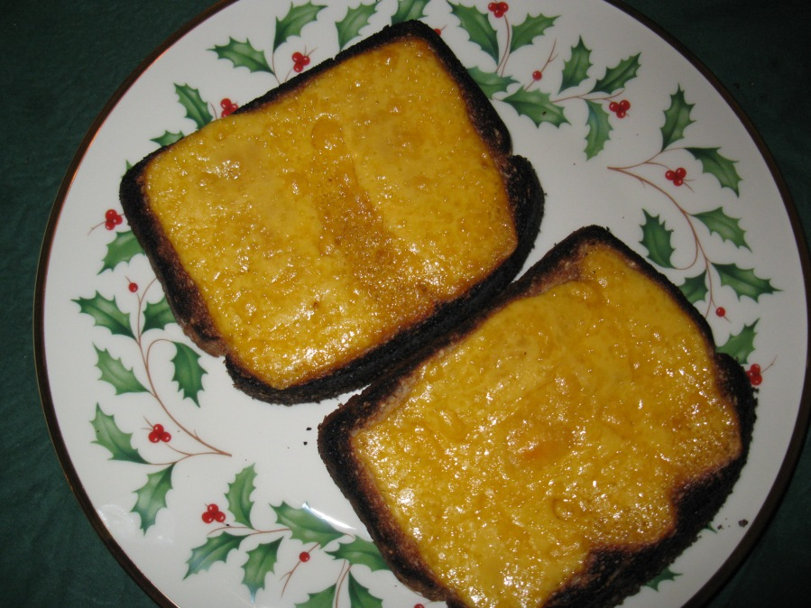 Charred cheese toast