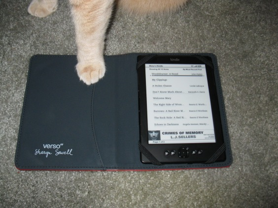 William's foot on my brand new Kindle, October 21, 2014