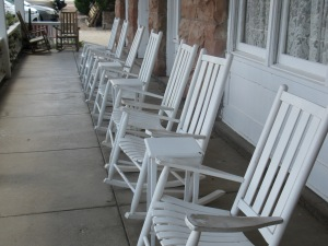 Porch of Hotel Limpia, Fort David, TX. By Kathy Waller.