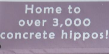 010 3000 hippos sign