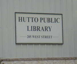 Hutto Public Library sign
