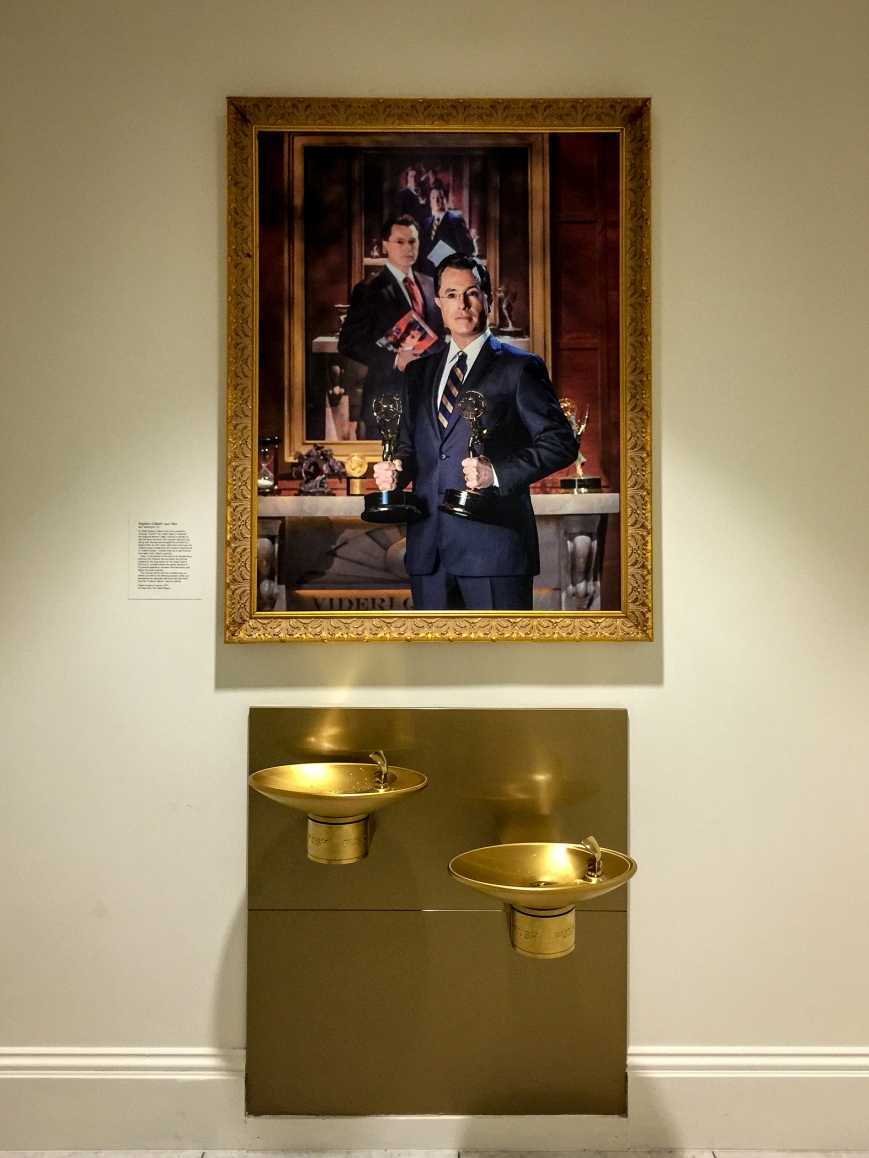 Stephen Colbert's portrait -- National Portrait Gallery, Washington, DC (January 2015)iPhone 6 Plus + 29/2.2