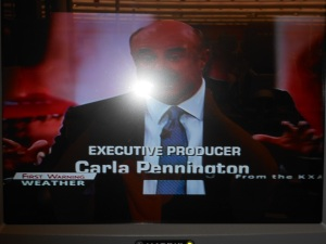recumbent bike trainer TV monitor: Dr. Phil
