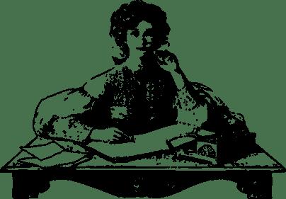 woman-thinking writing